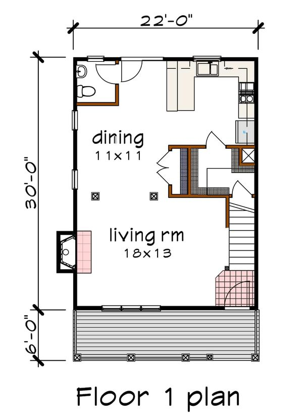 Dream House Plan - Country Floor Plan - Main Floor Plan #79-173