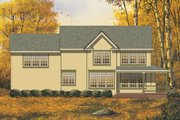 Farmhouse Style House Plan - 3 Beds 2.5 Baths 2208 Sq/Ft Plan #48-134 Exterior - Rear Elevation