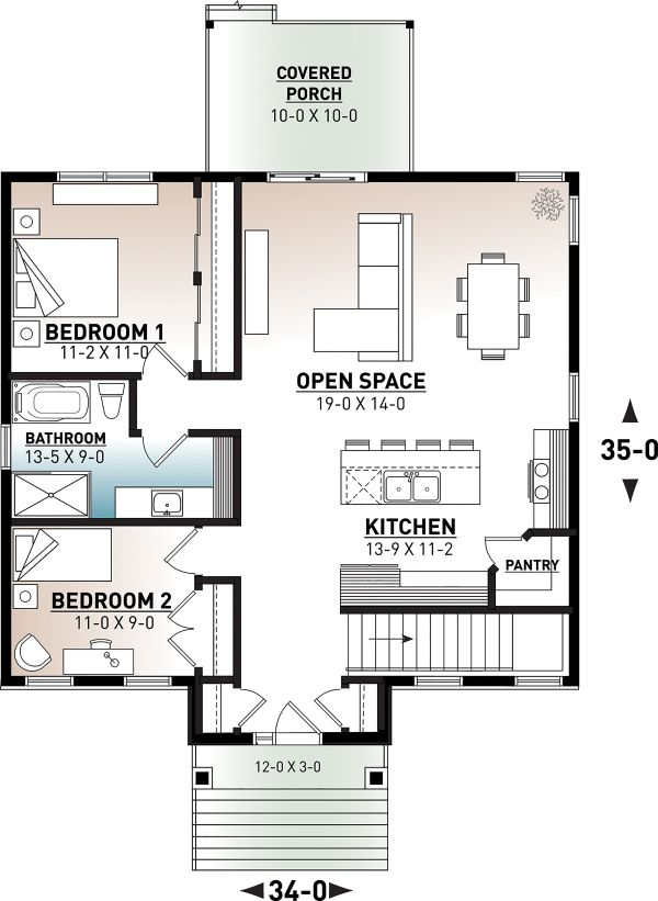 Country Floor Plan - Main Floor Plan Plan #23-2730