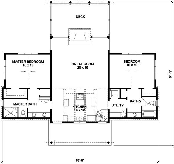 Contemporary Floor Plan - Main Floor Plan Plan #140-161