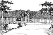 Traditional Style House Plan - 3 Beds 2 Baths 1914 Sq/Ft Plan #60-124 Exterior - Front Elevation