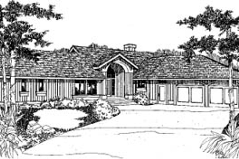 Traditional Exterior - Front Elevation Plan #60-124 - Houseplans.com