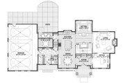 Cottage Style House Plan - 4 Beds 3.5 Baths 3425 Sq/Ft Plan #928-327 Floor Plan - Main Floor Plan