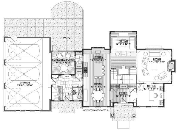 Home Plan - Cottage Floor Plan - Main Floor Plan #928-327