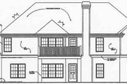 Traditional Style House Plan - 3 Beds 2 Baths 1592 Sq/Ft Plan #129-101 Exterior - Rear Elevation
