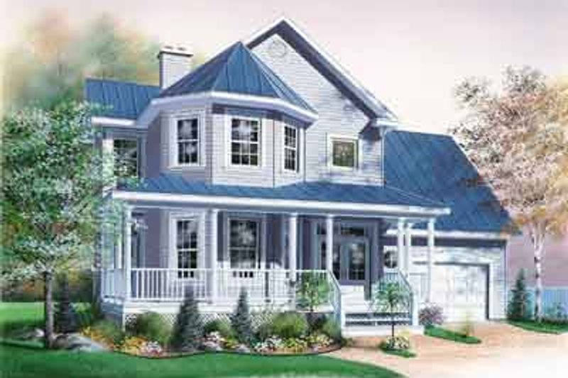 Architectural House Design - Farmhouse Exterior - Front Elevation Plan #23-499