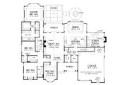 European Style House Plan - 4 Beds 3.5 Baths 2689 Sq/Ft Plan #929-31 Floor Plan - Main Floor