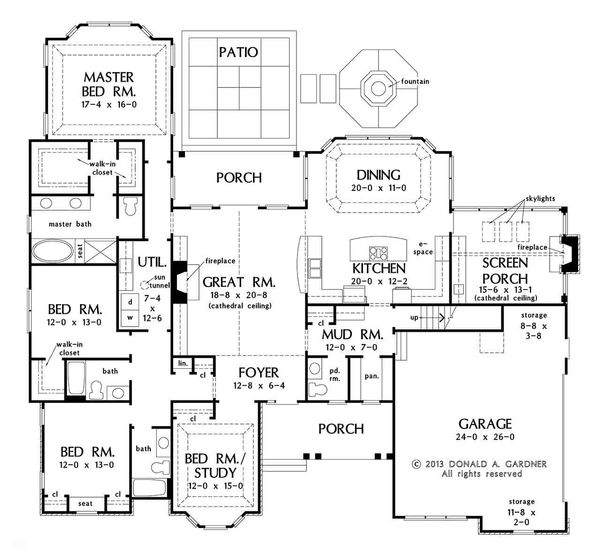 European Floor Plan - Main Floor Plan Plan #929-31