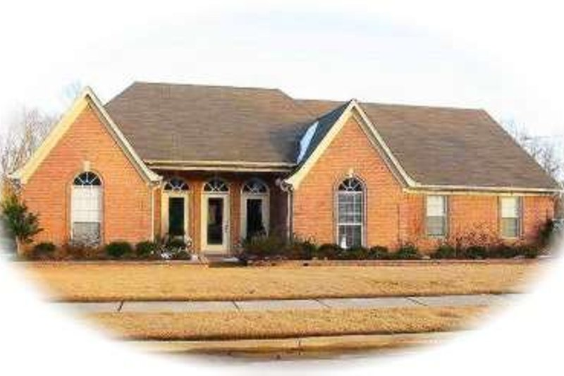 European Style House Plan - 3 Beds 2 Baths 2457 Sq/Ft Plan #81-1518 Exterior - Front Elevation