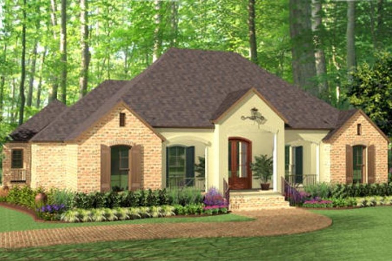 Dream House Plan - European Exterior - Front Elevation Plan #406-9612
