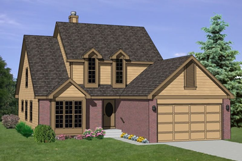 Traditional Style House Plan - 4 Beds 2.5 Baths 1900 Sq/Ft Plan #116-190 Exterior - Front Elevation