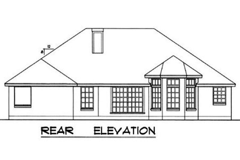 European Exterior - Rear Elevation Plan #40-349 - Houseplans.com