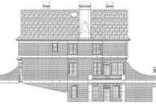 Colonial Exterior - Rear Elevation Plan #119-149