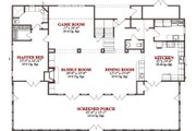 Cabin Style House Plan - 5 Beds 3.5 Baths 2866 Sq/Ft Plan #63-303 Floor Plan - Main Floor Plan