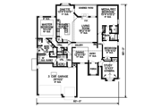 European Style House Plan - 3 Beds 2.5 Baths 2552 Sq/Ft Plan #65-523 Floor Plan - Main Floor Plan