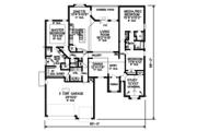 European Style House Plan - 3 Beds 2.5 Baths 2552 Sq/Ft Plan #65-523 Floor Plan - Main Floor Plan