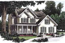 Dream House Plan - Country Exterior - Front Elevation Plan #927-253