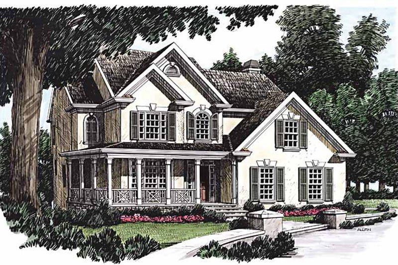 Country Exterior - Front Elevation Plan #927-253