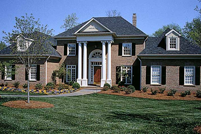 Dream House Plan - Classical Exterior - Front Elevation Plan #453-195