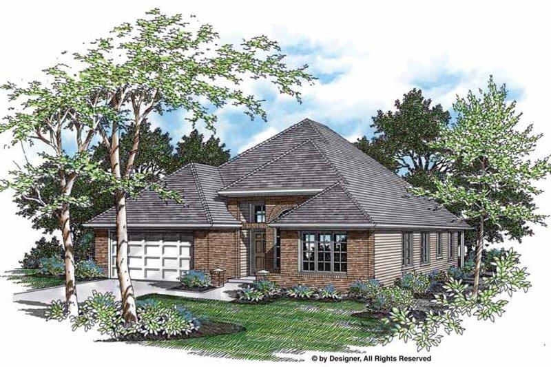 Dream House Plan - Mediterranean Exterior - Front Elevation Plan #48-716