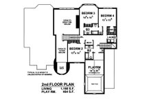 European Floor Plan - Upper Floor Plan Plan #20-2301