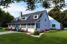 Farmhouse Exterior - Rear Elevation Plan #923-104