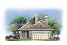 Dream House Plan - Craftsman Exterior - Rear Elevation Plan #929-847