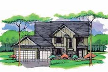 Architectural House Design - Colonial Exterior - Front Elevation Plan #51-1001
