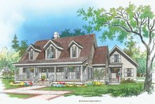 Dream House Plan - Country Exterior - Front Elevation Plan #929-174