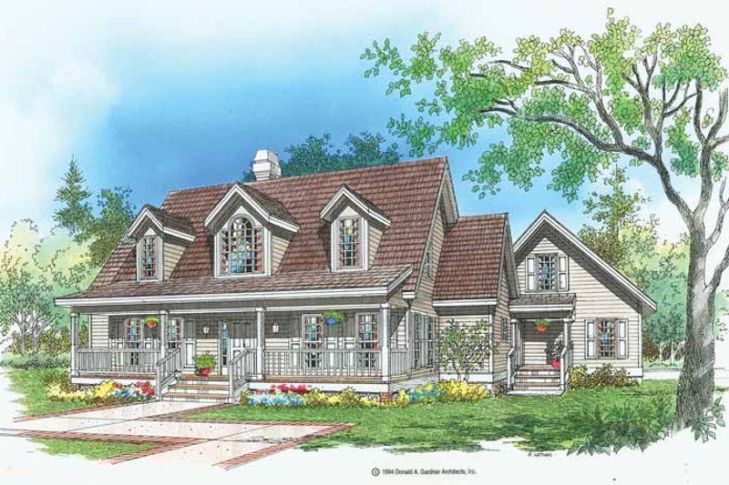 Country Exterior - Front Elevation Plan #929-174