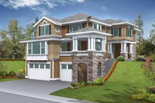 House Plan Design - Craftsman Exterior - Front Elevation Plan #132-245