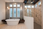 Contemporary Style House Plan - 4 Beds 4 Baths 4237 Sq/Ft Plan #935-5 Interior - Master Bathroom