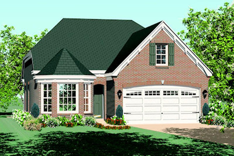 Traditional Style House Plan - 3 Beds 2 Baths 1522 Sq/Ft Plan #81-13836 Exterior - Front Elevation