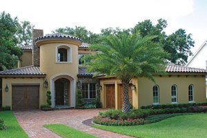 Mediterranean Exterior - Front Elevation Plan #1019-2