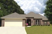 European Style House Plan - 4 Beds 2 Baths 1725 Sq/Ft Plan #430-68 Exterior - Front Elevation