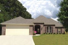 Home Plan - European Exterior - Front Elevation Plan #430-68