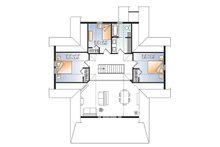 Traditional Floor Plan - Upper Floor Plan Plan #23-2609