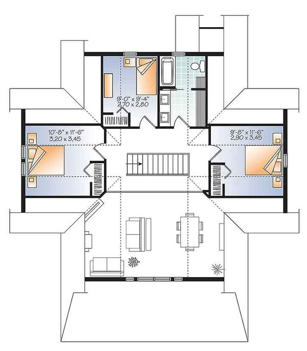Home Plan - Traditional Floor Plan - Upper Floor Plan #23-2609