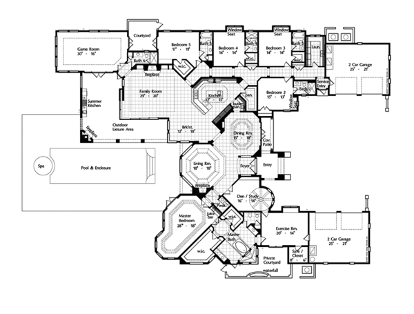 European Floor Plan - Main Floor Plan Plan #417-816