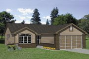 Ranch Style House Plan - 2 Beds 2 Baths 1162 Sq/Ft Plan #116-177 Exterior - Front Elevation