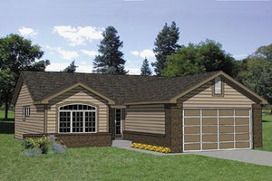 Ranch Exterior - Front Elevation Plan #116-177