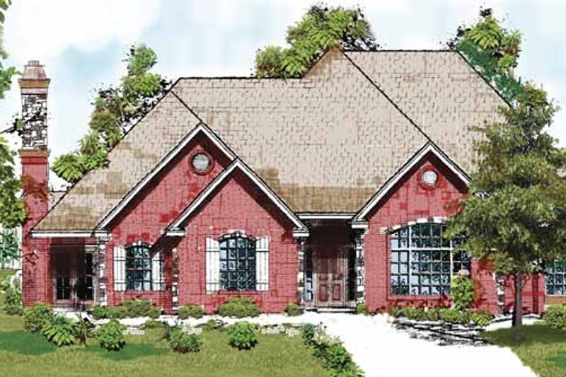 Country Exterior - Front Elevation Plan #52-251