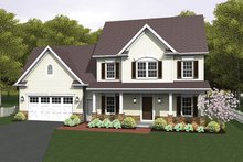 Dream House Plan - Country Exterior - Front Elevation Plan #1010-124