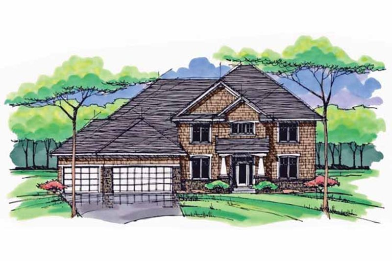 Craftsman Exterior - Front Elevation Plan #51-1032