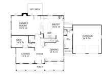 Traditional Floor Plan - Main Floor Plan Plan #1053-59