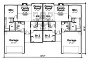 Traditional Style House Plan - 2 Beds 2 Baths 1281 Sq/Ft Plan #20-2381 Floor Plan - Main Floor