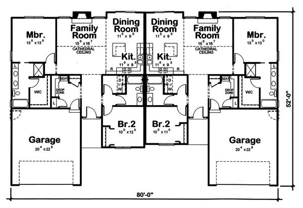 Dream House Plan - Traditional Floor Plan - Main Floor Plan #20-2381