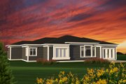 Ranch Style House Plan - 4 Beds 2 Baths 2228 Sq/Ft Plan #70-1197 Exterior - Rear Elevation