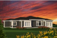 Home Plan - Ranch Exterior - Rear Elevation Plan #70-1197