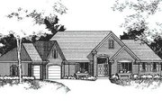 European Style House Plan - 4 Beds 3.5 Baths 4681 Sq/Ft Plan #51-191 Exterior - Front Elevation